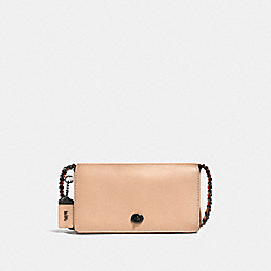 COACH F56263 - DINKY IN COLORBLOCK BEECHWOOD/CHALK/BLACK COPPER