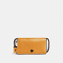 COACH F56263 Dinky In Colorblock GOLDENROD/RIVER/BLACK COPPER