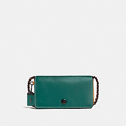 COACH F56263 - DINKY IN COLORBLOCK DARK TURQUOISE/LIGHT SADDLE/BLACK COPPER