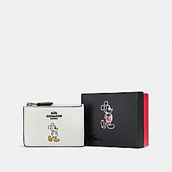 COACH F56265 Boxed Mickey Mini Skinny Id Case DK/CHALK