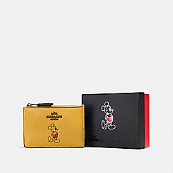COACH F56265 Boxed Mickey Mini Skinny Id Case DK/CANARY