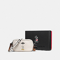 COACH F56268 - BOXED CROSSBODY POUCH WITH MICKEY DK/CHALK