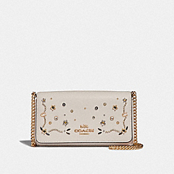 CROSSBODY WITH STARDUST CRYSTAL RIVETS - F56272 - CHALK MULTI/IMITATION GOLD
