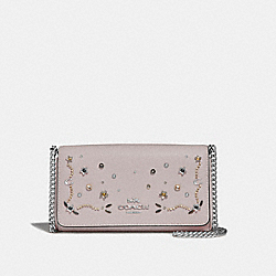 CROSSBODY WITH STARDUST CRYSTAL RIVETS - F56272 - GREY BIRCH MULTI/SILVER