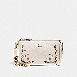 COACH F56275 Large Wristlet 19 With Stardust Crystal Rivets CHALK MULTI/IMITATION GOLD