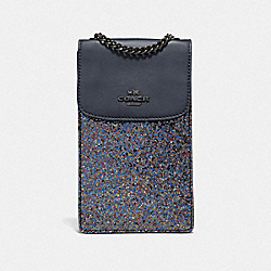 COACH F56281 North/south Crossbody RAINBOW MULTI/BLACK ANTIQUE NICKEL