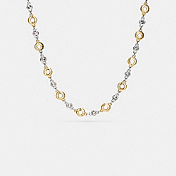 OPEN CIRCLE NECKLACE - f56412 - GOLD/SILVER ROSEGOLD