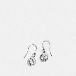 OPEN CIRCLE STONE EARRING ON WIRE - f56417 - SILVER