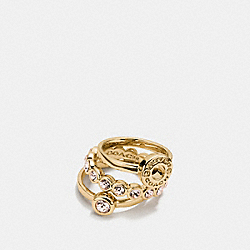 OPEN CIRCLE RING SET - f56418 - GOLD
