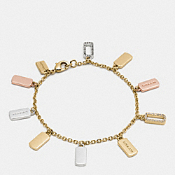 COACH F56434 Hangtag Charm Bracelet GOLD/SILVER ROSEGOLD