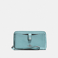 COACH F56528 Phone Wallet CLOUD/SILVER