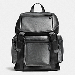 TERRAIN TREK PACK IN METALLIC PEBBLE LEATHER - f56543 - GUNMETAL