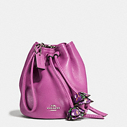 COACH F56581 Petal Wristlet In Pebble Leather SILVER/HYACINTH