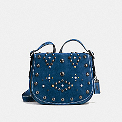 COACH F56621 Saddle 23 With Western Rivets DENIM/BLACK COPPER
