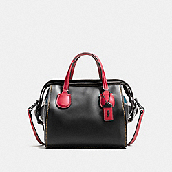 COACH F56630 - BADLANDS SATCHEL 25 WITH B-BOY PRAIRIE PATCHWORK BLACK MULTI/BLACK COPPER