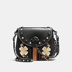 COACH F56643 - TURNLOCK SADDLE 23 WITH WESTERN EMBROIDERY BLACK/BLACK COPPER