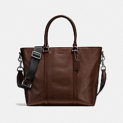 METROPOLITAN TOTE - f56659 - BLACK ANTIQUE NICKEL/MAHOGANY