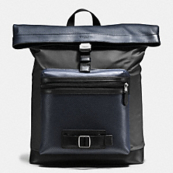 TERRAIN EXPLORER PACK IN PERFORATED MIXED MATERIALS - f56662 - MIDNIGHT NAVY/GRAPHITE