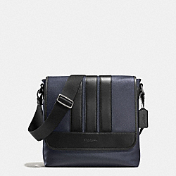 BOND SMALL MESSENGER IN PEBBLE LEATHER - f56666 - MIDNIGHT/BLACK