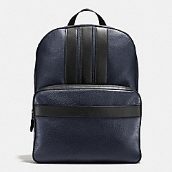 BOND BACKPACK IN PEBBLE LEATHER - f56667 - MIDNIGHT/BLACK