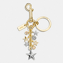COACH F56744 Pave Star Multi Bag Charm SILVER/GOLD