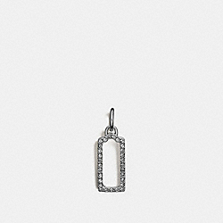 COACH F56770 - PAVE OPEN HANGTAG CHARM SILVER/BLACK