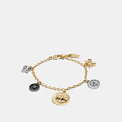 HORSE AND CARRIAGE COIN MIX BRACELET - f56780 - GOLD/SILVER