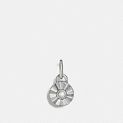 COACH F56791 Daisy Rivet Birthstone Charm PEARL/SILVER