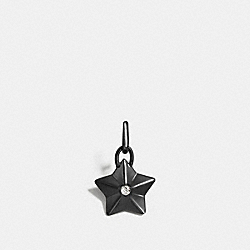 COACH F56804 Faceted Star Charm BLACK