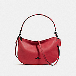 CHELSEA CROSSBODY - F56819 - WASHED RED/DARK GUNMETAL