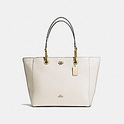 COACH F56830 - TURNLOCK CHAIN TOTE LI/CHALK