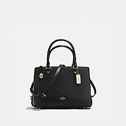 COACH F56839 - BROOKLYN CARRYALL 28 BLACK/LIGHT GOLD