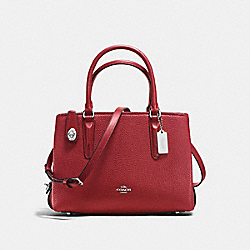 COACH F56839 - BROOKLYN CARRYALL 28 RED CURRANT/SILVER