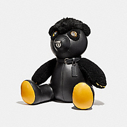 COACH F56843 Small Fuzz Bear BLACK