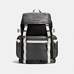 COACH F56876 Terrain Trek Pack 42 In Tech Nylon GREY CAMO