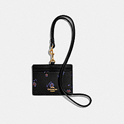 COACH F57095 - ID LANYARD WITH VINTAGE PRAIRIE PRINT BLACK/MULTI/IMITATION GOLD