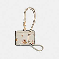 COACH F57095 Id Lanyard With Vintage Prairie Print CHALK MULTI/IMITATION GOLD