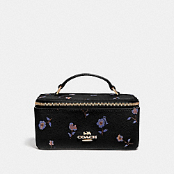 COACH F57096 Vanity Case With Vintage Prairie Print BLACK/MULTI/IMITATION GOLD