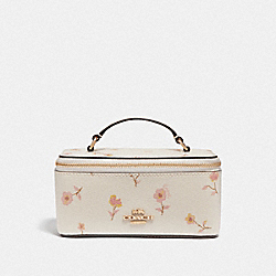 COACH F57096 Vanity Case With Vintage Prairie Print CHALK MULTI/IMITATION GOLD