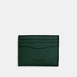 COACH F57102 Card Case RACING GREEN
