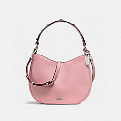 COACH F57119 Mae Crossbody With Western Rivets SILVER/PINK