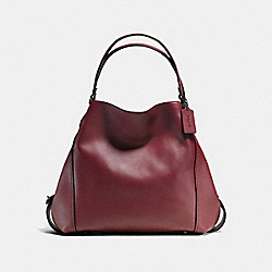 COACH F57123 Edie Shoulder Bag 42 OXBLOOD/DARK GUNMETAL