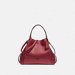 EDIE SHOULDER BAG 28 - f57124 - WASHED RED/DARK GUNMETAL