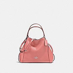 COACH F57124 - EDIE SHOULDER BAG 28 SV/BRIGHT CORAL