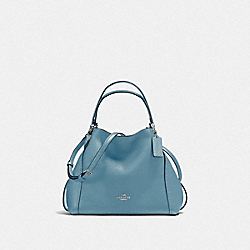 COACH F57124 - EDIE SHOULDER BAG 28 SV/SLATE