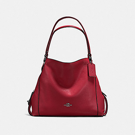 COACH f57125 EDIE SHOULDER BAG 31 Cherry/Dark Gunmetal