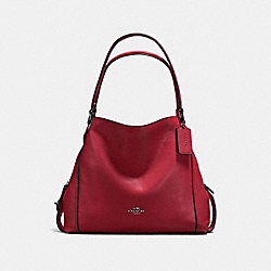 COACH F57125 - EDIE SHOULDER BAG 31 CHERRY/DARK GUNMETAL