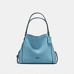 COACH F57125 Edie Shoulder Bag 31 CHAMBRAY/DARK GUNMETAL