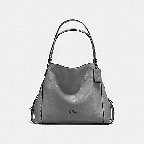 COACH F57125 EDIE SHOULDER BAG 31 DK/HEATHER GREY