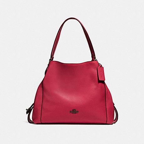 COACH F57125 EDIE SHOULDER BAG 31 DK/WASHED-RED